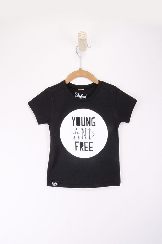 Young and Free Black Tee