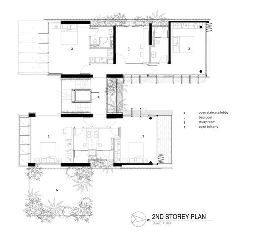 Gallery Of 11 Jalan Insaf Foma Architects 14 In 2020 Architect Floor Plans Open Staircase