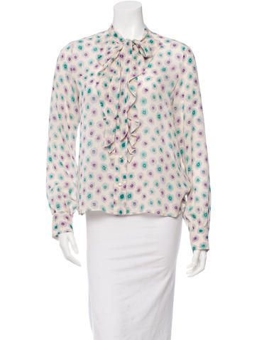 125 M Marc Jacobs Printed Silk Blouse