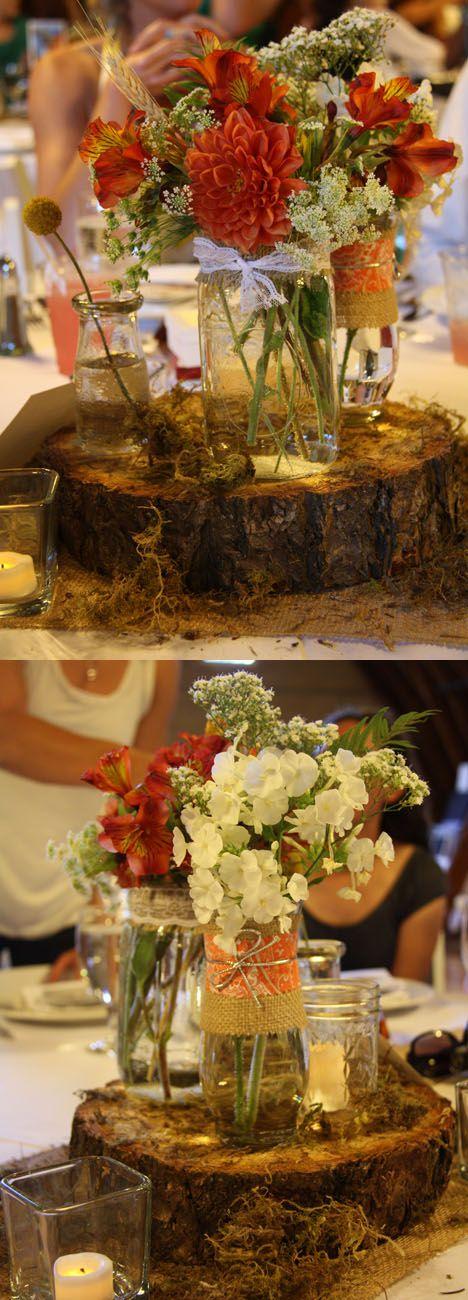 Wood and Mason Jars...great idea!