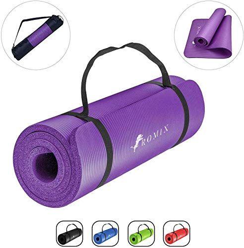 Romix Yoga Mat 15mm Epais Haute Densite Antiderapant Ecologique Tapis De Gymnastique Premium Leger Non Tox En 2020 Tapis De Gymnastique Accessoires De Yoga Gymnastique