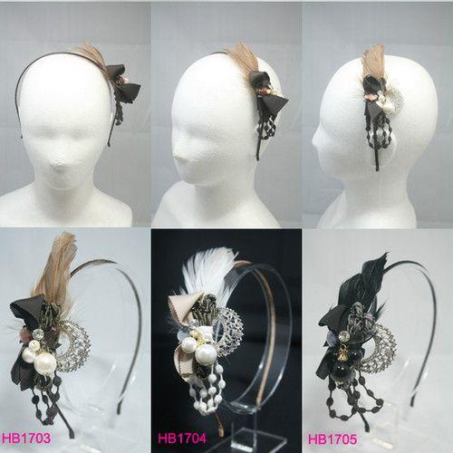 UNIQUE fascinador HEADBAND CABELO Acessório Partido PENA headpiece hairband CHIC   eBay