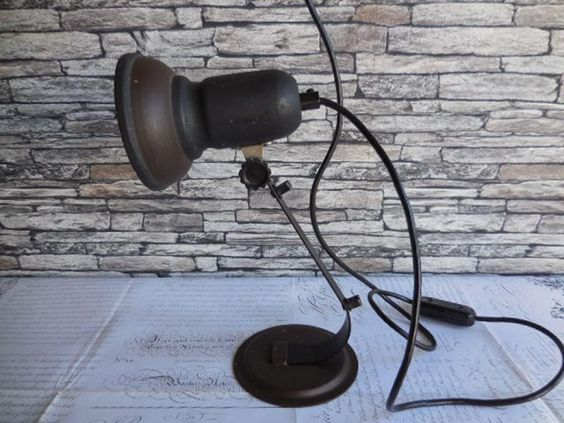 Latest Listing - #Vintage #1950s metal DeskLamp, £35.00 by Vintage Corner:  A vintage continental desk lamp. 1950s in black and brown metal. Lamp has a ceramic screw in bulb holder,in working order. You might like to check the wiring for the country you live in. Good vintage condition. size 30cm tall. Please contact me if you would like to purchase more than one item,i can give you a accurate quote, as the cost of the shipping depends on the weight and size of the parcel thank you...