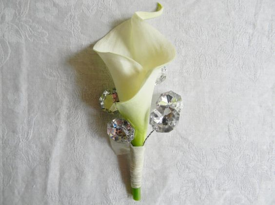 Boutonniere Ivory Wedding Bout Groom Flowers por DistinctiveEvents