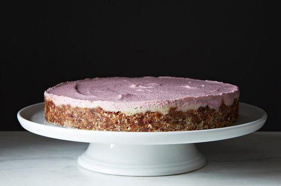 Cheesecake de morango e vanilla