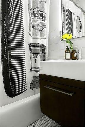 Apothecary shower curtain - izola