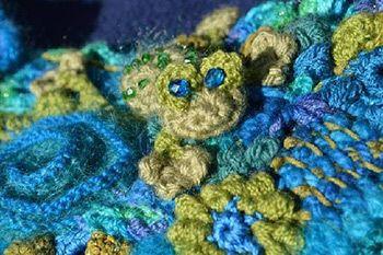 Free-form Fiber Artist Bonnie Pierce - Talking Crochet Updates - December 29, 2015 - Vol. 12 No. 26