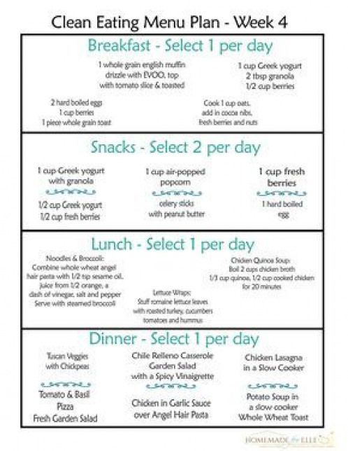 Clean Eating Meal Plan One Week Of Clean Eating Meals With Shopping List And Recipes Dow Free Clean Eating Meal Plan Clean Eating Menu Clean Eating Diet Plan