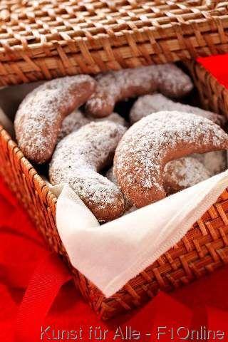 Vanillekipferl, Puderzucker, Weihnachtsgebäck, Süßmittel, Zucker