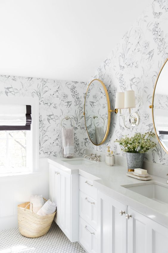 Floral Patterned Wallpaper Is A Great Way To Add Interest To An