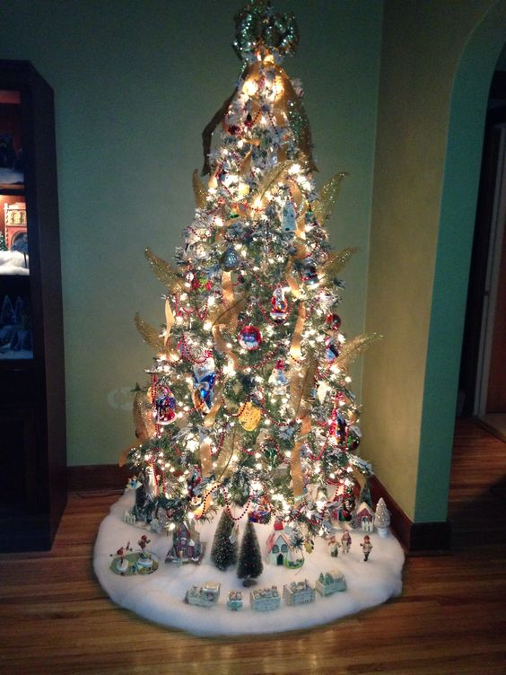 Glass and Gold Flocked Tree