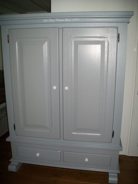 Prachtige broodkast in warme grijze kleur kast is voor veel doeleinden geschikt bijvoorbeeld - Grijze kleur donkerder ...