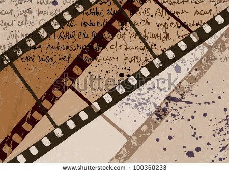 Grunge textured film frame abstract vector background, raster version. - stock photo