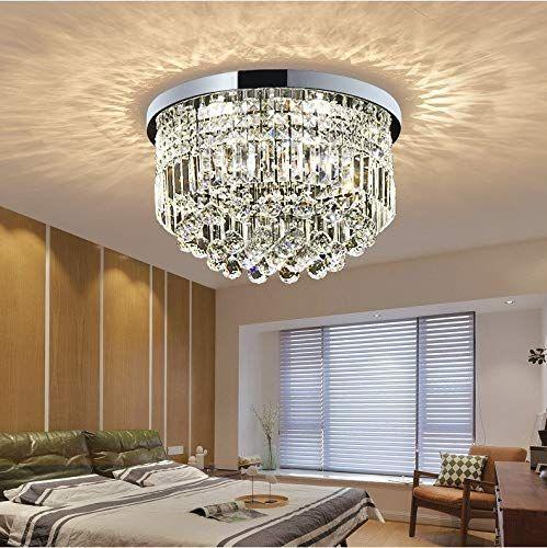 Moderne Klarem Kristall Regentropfen Kronleuchter Beleuchtung