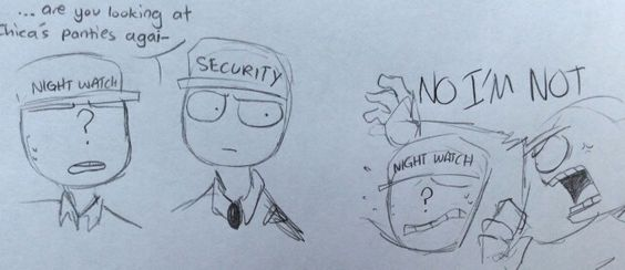 Mike The Security Guard & Toy Chica Doodles Part 2
