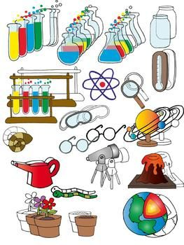 Science Clip Art Set Pinterest Science And