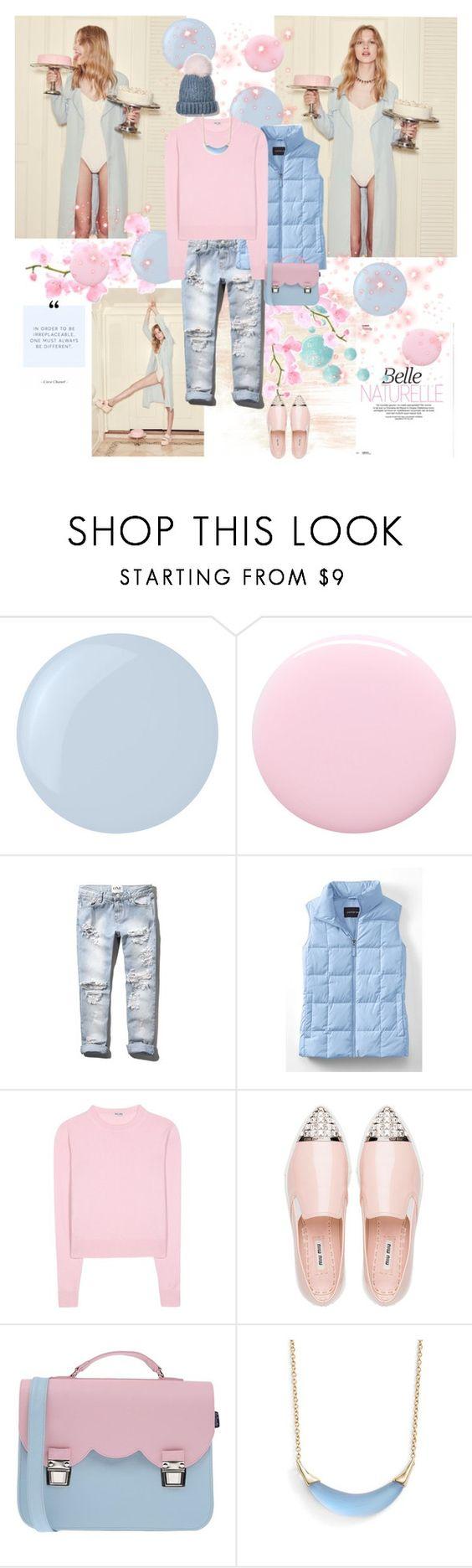 """Pantone 2016"" by jenuarik ❤ liked on Polyvore featuring BB Dakota, Essie, Nails Inc., Abercrombie & Fitch, Lands' End, Miu Miu, La Cartella, Alexis Bittar, women's clothing and women's fashion"