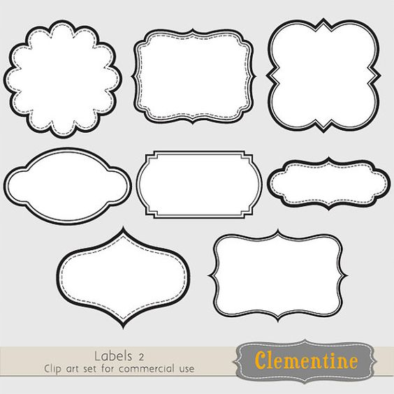 printable labels clip art images scrapbook clip art royalty free layered in psd ca109. Black Bedroom Furniture Sets. Home Design Ideas