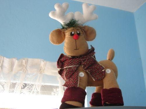 Molde de reno navideño - Imagui