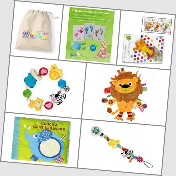 Coffret cadeau naissance - ZAZOPACK+ TIWA JUNGLE 0-3 mois Maxi - 79.50€  - Jouets + Livre + Pack créatif : Si vous aimez le principe des box, vous aimerez offrir à votre bébé ce coffret-cadeau adapté à son stade de développement et rempli de produits de qualité sur le thème de la jungle.  Une idée originale pour un cadeau de naissance