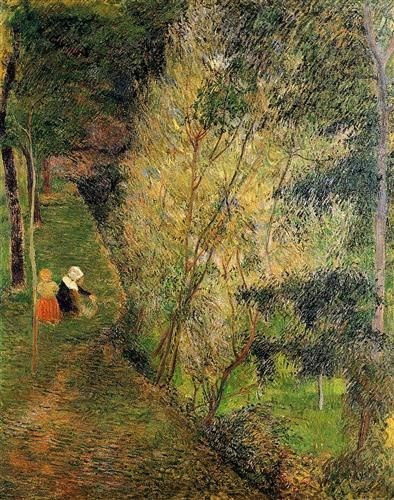 Pont-Aven woman and child - Paul Gauguin: