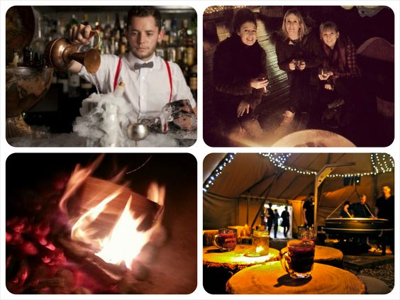 Perfect winter warmer date in Shoreditch- hot cocktails and roasting marshmallows at Queen of Hoxton Tipi then pop next door to the underground prohibtion gin bar the Whistling Shop