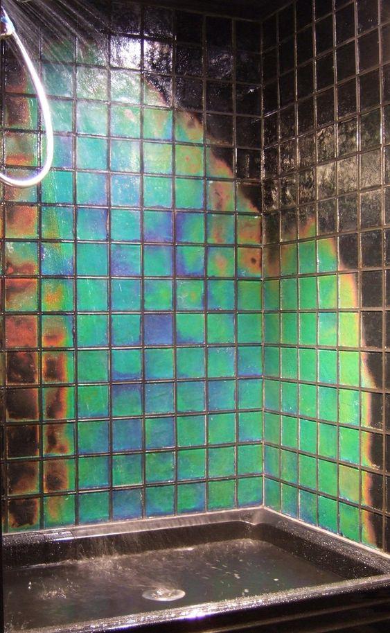 Moving Color tiles change color as the temperature changes.