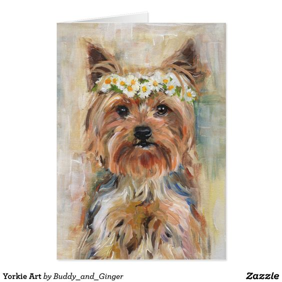 Yorkie Art Zazzle Co Uk Dog Art Dog Paintings Yorkie