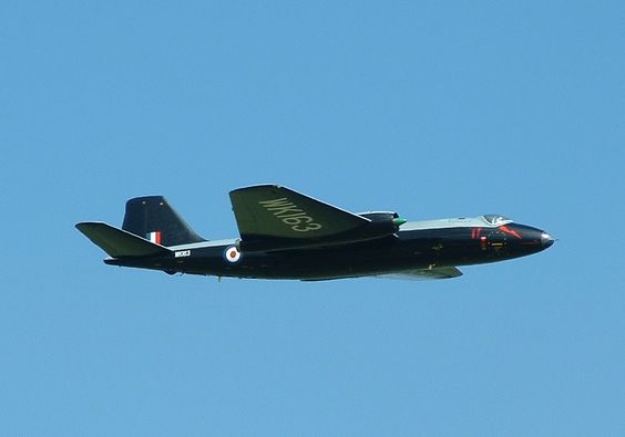 English Electric Canberra WK163 from her display at East Fortune Air Show on 13th July 2003,