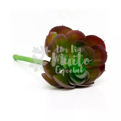 10 suculenta artificial com caule flor flores planta arranjo