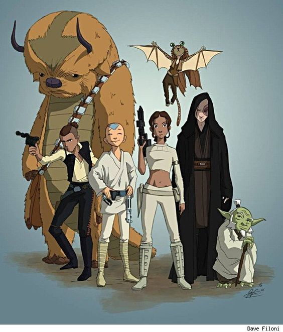 Avatar: The Last Airbender/Star Wars mashup by Dave Filoni. Epic!