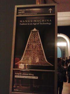 Actual - Arte, cultura, moda e criação: Sensacional exposição Manus X Machina: MET - NY