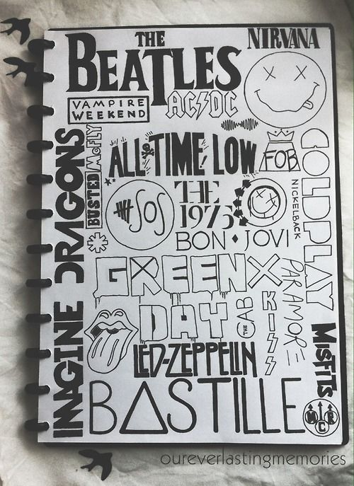 Doodles Band And Grunge On Pinterest