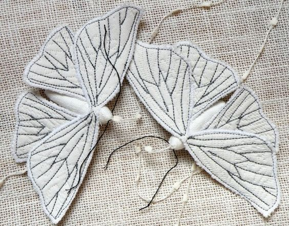 Soft Sculpture  Moth Fabric Ornament - Textile  Lepidoptera - Made to Order