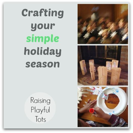 What's your holiday season going to be like this year? Craft your simple holiday season Part 1 of 3
