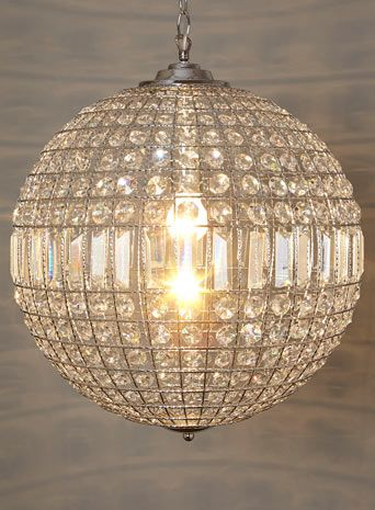 Ursula large crystal ball pendant - lighting - home u0026 lighting - Home,  Lighting u0026 Furniture- BHS