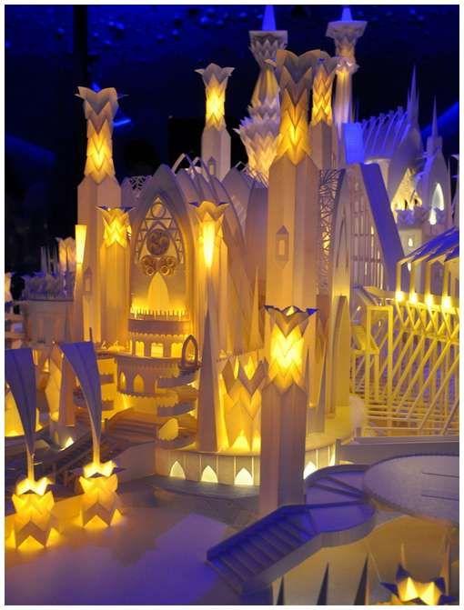 A paper castle!