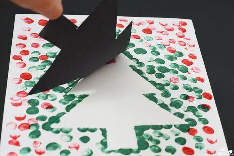 Christmas Tree Thumbprint Art Kindergarten Christmas Crafts Preschool Christmas Crafts Construction Paper Crafts