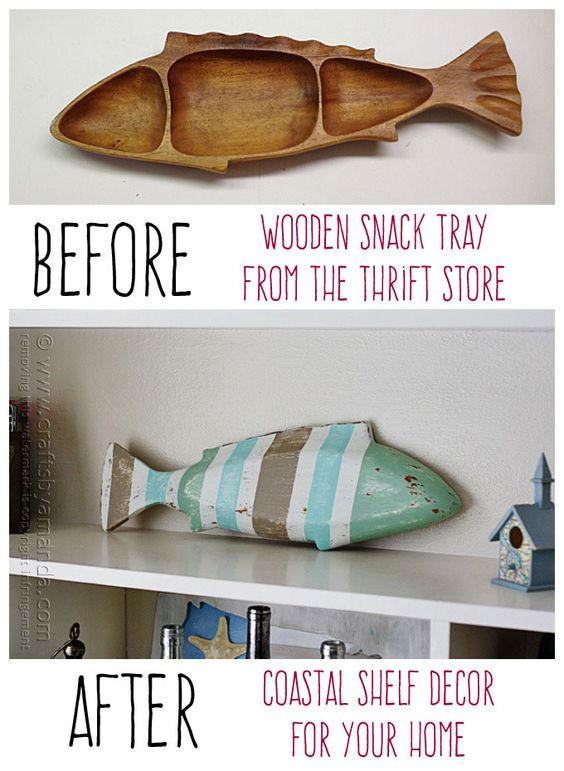 Striped Coastal Fish Decor by Amanda Formaro, Crafts by Amanda: