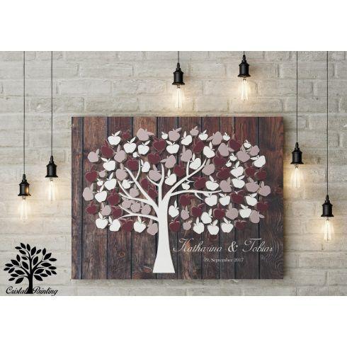 Hochzeitsgastebuch Hochzeitsbaum Wedding Tree Wedding Col