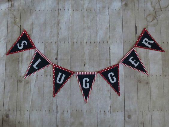 Custom baseball banner. Baseball party idea, baseball party gift, baseball party decoration, sports banner, baseball bedroom deocr by ThePartyOrchard on Etsy https://www.etsy.com/listing/183969994/custom-baseball-banner-baseball-party
