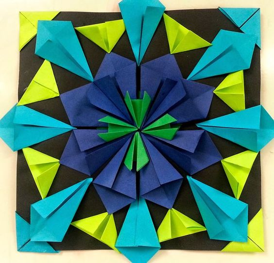Radial Symmetry Sculpture Folded paper radial symmetry high school ...