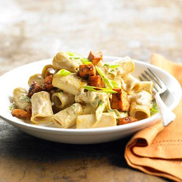 Spicy Pasta with Sweet Potatoes