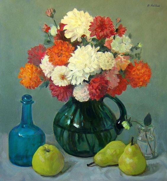 Robert Holden. Dahlias, A Bouquet of Many Colors
