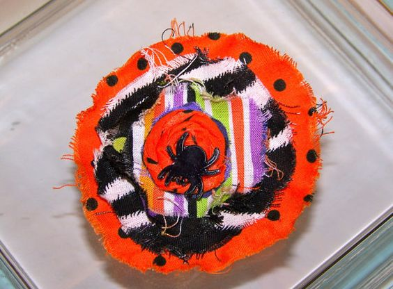 Hair AccessoryHalloween Fabric Flower hair by BowsandDivaThings, $5.95