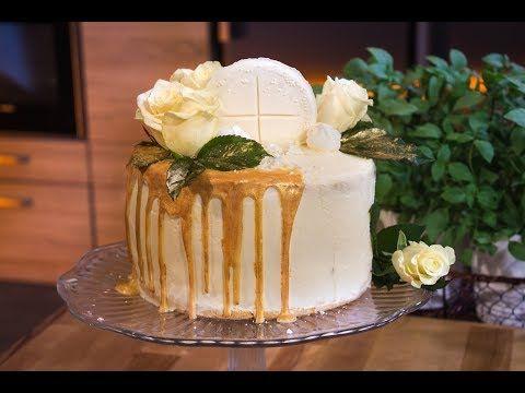 Słodka Kuchnia Pszczółek Tort Komunijny Youtube Torty