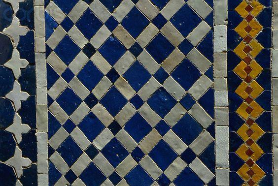 Africa | Detail of a Zellige Tile Mosaic. Morocco | © Margret Courtney - Clark