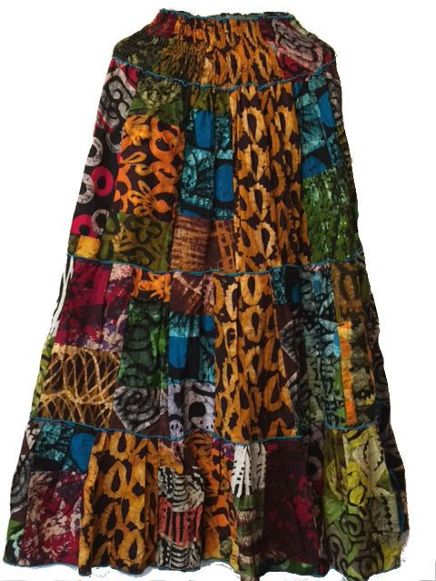 African Patchwork Long Skirt (PW809)