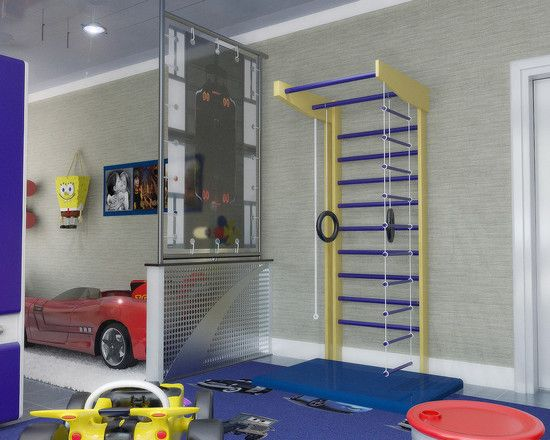 Gym design jungle gym and playrooms on pinterest for Basement jungle gym