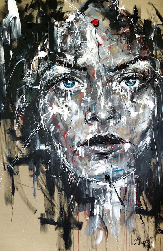 SO FAR Acrylique & fusain sur toile de lin 195x130cm http://www.lucile.callegari.fr